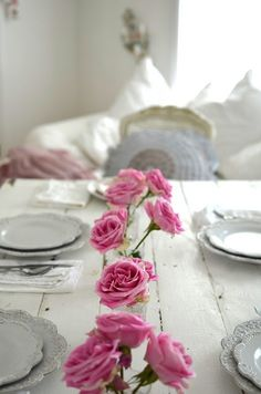 65 Ideas For Shabby Chic Table Decorations Wedding Pink Roses