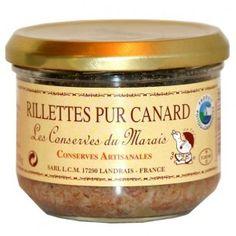 Rillettes pur canard 180 gr - à partir de filet de canard - apprécier pour apéritif ou entrée sur tranches de pain frais - 4.31€