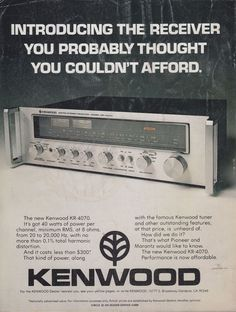 """The WEGA 3300 was designed by Verner Panton (Denmark) and """"Wegweiser"""" (see post is just a made up word as a slogan not a model designation. Kenwood Hifi, Hi Fi System, Old Advertisements, Advertising, Old Technology, Hifi Audio, Vintage Ads, Vintage Posters, Audio Equipment"""