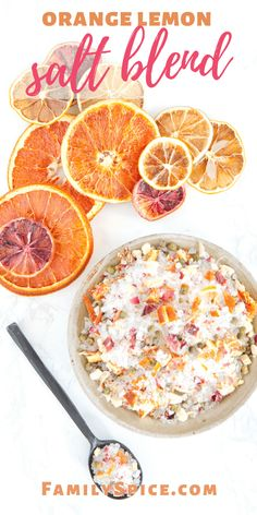 This orange lemon salt blend is a bright and flavorful salt blend that will bring your roast chicken salad avocado toast or any meals to life with it's vibrant salty citrus flavor! Citrus Recipes, Orange Recipes, Fruit Recipes, Cooking Recipes, Cooking Tips, Recipies, Roast Chicken, Chicken Salad, Fruit Sec