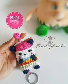 Crochet Sloth, Crochet Panda, Kawaii Crochet, Cute Crochet, Crochet Crafts, Crochet Projects, Crochet Key Cover, Crochet Case, Free Crochet Bag