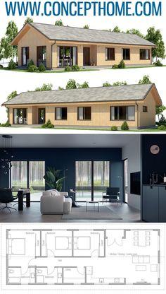 Architecture Home Plans, Casa Pequena, Planta de Casa, Casa House Layout Plans, New House Plans, Dream House Plans, Modern House Plans, House Layouts, Small House Plans, House Floor Plans, Modular Home Plans, Affordable House Plans