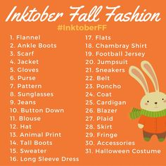 Join in the Inktober Fall Fashion challenge with Brown Paper Bunny! Source by BrownPaperBunny fashion 2019