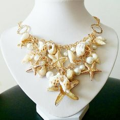 Hawaiian Beach Necklace. Brush it up with a beach wear and this truely brightens up your summer days.  Get it for SGD13.00  http://sweetenamels.myshopify.com/collections/statement-necklaces/products/hawaiian-beach-necklace