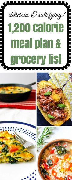 1,200 Calorie Meal Plan & Grocery List via @Ally\\\'s Cooking