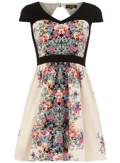The first mirror floral dress I have seen that is girly.