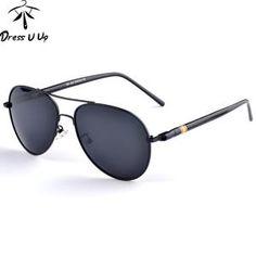 b6a3482100 DRESSUUP 2018 Brand Designer Polarized Sunglasses Men Pilot Sunglasses Male  Sun Glasses For Men Oculos De