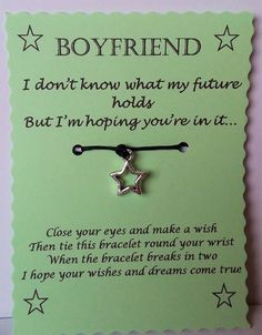 Boyfriend gift, Boyfriend Wish Bracelet, Boyfriend Jewelry, Gift Boyfriend, Gift…