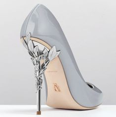As if from an enchanted fairy-tale, entangled in the dense foliage of the forest and claimed by a wandering damsel, the Eden Heel Pump is celestial, refined and romantic. #weddingshoes