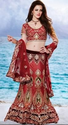 Alluring Crimson Lehenga Choli