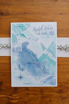 watercolor map | Natalie Franke #wedding