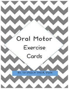 1000 images about speech language apraxia on pinterest for Oral motor exercises for adults