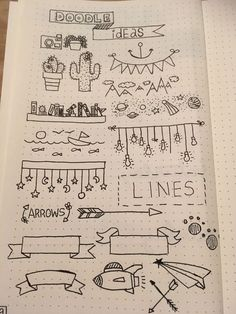 bullet journal doodles / bullet journal & bullet journal ideas & bullet journal layout & bullet journal inspiration & bullet journal doodles & bullet journal weekly spread & bullet journal how to start a & bullet journal ideas layout Doodle Bullet Journal, Bullet Journal Headers, Bullet Journal Banner, Bullet Journal Notebook, Bullet Journal Spread, Bullet Journal Frames, Bullet Journal Ideas Handwriting, Notebook Doodles, Bullet Journals