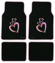 Hearts car accessories for girls. Cheap Sports Cars, Exotic Sports Cars, Sport Cars, Car Accessories For Girls, Jeep Accessories, Pink Pages, Pink Jeep, Girly Car, Car Floor Mats