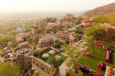 The world's most unusual hotels - Neemrana Fort Palace, Alwar, near Delhi, India  The once-proud Neemrana Fort Palace, built in 1464,