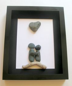 Unique Couples Gift and Personalized Art Work - Pebble Art on Etsy, $60.00 CAD
