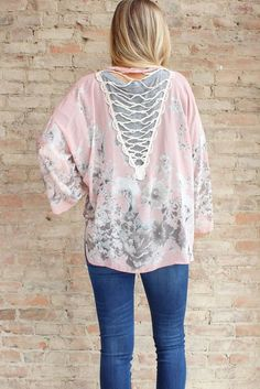 Daydream Lace Up Kimono #affordable-bohemian-style-clothing #affordable-boho-clothing #beach-wear