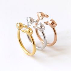 Baby Deer Ring / adjustable ring fawn ring choose your by laonato