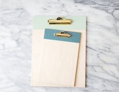 Painted Wood Clipboard with Brass Hardware | Mini Clipboard | Menu Clipboard | Teacher Gift | Wall Hanging Clipboard | Clipboard for Art