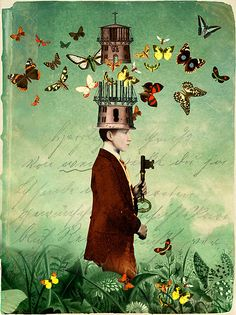Free your mind! Print on book cover by Catrin Welz-Stein.