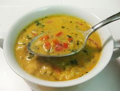 Bloatal Recall: Curried Coconut Soup with Chickpeas & Rice