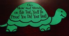 Slow and Steady for test taking strategies