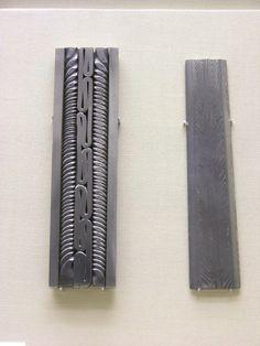 Peek into the pattern-welded blades