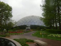 Climatron - first geodesic dome greenhouse - designed by TC Howard of Synergetics, Inc in 1959.