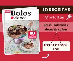 Faça já o download do novo caderno de receitas: Bolos & Doces