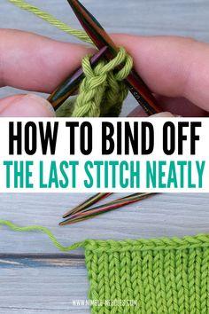 Casting Off Knitting, Bind Off Knitting, Cast On Knitting, Knitting Help, Knitting Stitches, Knitting Stitch Patterns, Easy Knitting, Knitting Needles, Knit Patterns
