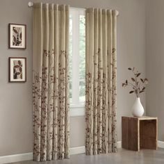 The Madison Park Tunisia Window Curtain Panel will bring the outside indoors with this border printed vine. The gentle motif is featured in a soft, updated palette. Printed on textured cloth for an organic appeal. Tab Curtains, Curtain Fabric, Bedroom Curtains, Bedroom Decor, Simple Colors, Window Panels, Home Decor Outlet, The Fresh, Window Treatments