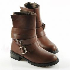 Buckle and Cross Straps Design Women's Ankle Boots