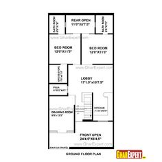 5 Marla house Plan and map with Detail |25x33 House Plan| | House ...
