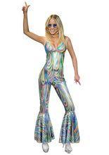 Discogirl Kostüm 70er bunt aus unserer Kategorie Sexy Damenkostüme. Wenn diese Disco-Lady die Tanzfläche betritt, werden alle Scheinwerfer automatisch auf sie gerichtet. Einfach ein schickes Faschingskostüm für Damen, die eine Zeitreise zurück in die 70er Jahre machen möchten!
