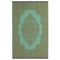 Teppich für draußen Istanbul aqua & bronze ab 90x150cm