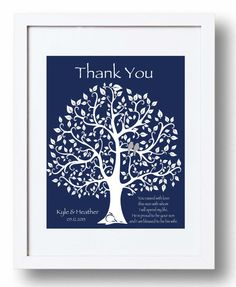 Parents Thank You Gift from Couple - Bride\'s Parents - Groom\'s ...