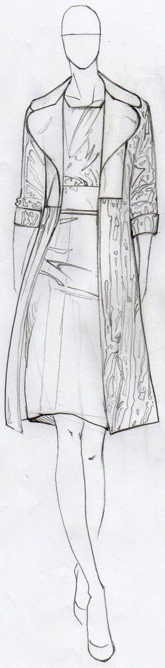 Brown Patent Coat Pencil by TheBocaj.deviantart.com on @deviantART