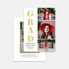Graduation Card Template for photographers PSD Flat card -Graduation Announcement - Photoshop Template - Senior Announcements, Graduation Cards, Photoshop, Templates, Photographers, Flat, Etsy, Stencils