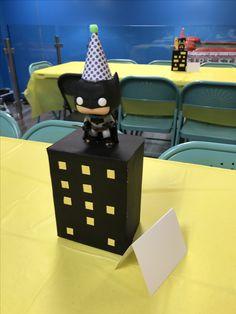 Batman table centerpiece.