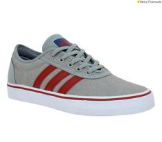 ADIDAS Adi Ease toile Homme Gris + Rouge Modèle De Chaussure, Chaussure  Tendance, Chaussures 919ae05d518
