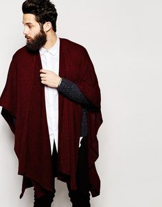 ASOS Cape In Burgundy - Red
