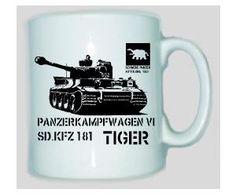 Tasse Tiger Panzer Panzerkampfwagen VI SD.KFZ 181 / mehr Infos auf: www.Guntia-Militaria-Shop.de