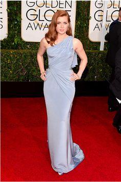 Amy Adams in Versace - Golden Globes 2015