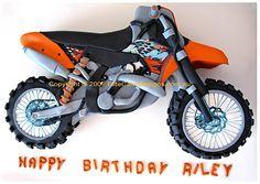 KTM Track Bike Birthday Cake, 21st Birthday Cakes Sydney, Dirt bike Birthday Cake, Novelty Cakes, Birthday Cake Designs, Fancy Dress Party cake