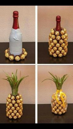 Wine pineapple with chocolates!
