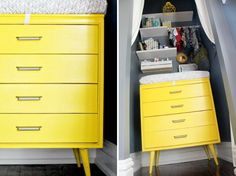 Yellow Dresser in a
