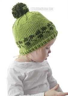 Ravelry  Lucky Shamrock Hat pattern by Cassandra May Bonnet Bébé, Motif Fair  Isle, ad843c27932