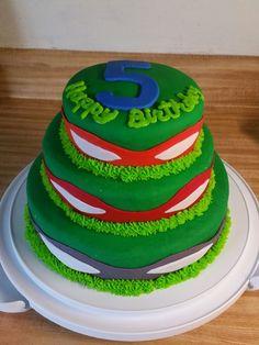 Ninja turtle fondont cake