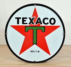 Vintage Texaco Porcelain Sign   McDonald & Sons I have the original sign like this one from KENT'S GARAGE  hanging on the side of my shop.