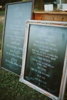 Picking just the right spot to host the Big Day is no easy task. But when you've got grandparents with a walnut orchard that's straight out of a storybook, the tough decision instantly becomes simple. Add in a sister-of-the-bride slash pro Wedding Signage, Wedding Menu, Chic Wedding, Wedding Details, Wedding Reception, Our Wedding, Wedding Planning, Wedding Ideas, Pizza Wedding